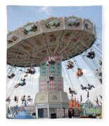 Swing Carousel At County Fair Fleece Blanket