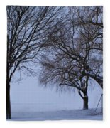 Swing In Winter Fleece Blanket