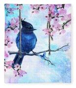 Swing Into Spring Fleece Blanket