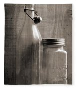 Jar And Bottle  Fleece Blanket
