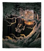 Swinging Through The Forest By Moonlight Fleece Blanket