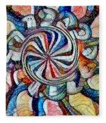 Swirl 12 Fleece Blanket