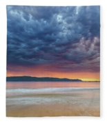 Swirling Cloudy Sunrise Seascape Fleece Blanket