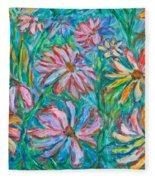 Swirling Color Fleece Blanket