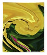 Swirling Colors Fleece Blanket
