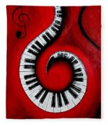 Swirling Piano Keys- Music In Motion Fleece Blanket