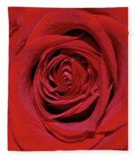 Swirling Red Silk Fleece Blanket