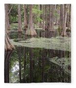 Swirls In The Swamp Fleece Blanket