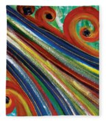 Swirls Fleece Blanket
