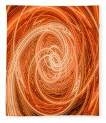 Swirls Of Orange Fleece Blanket