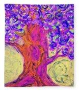 Swirly Tree Fleece Blanket