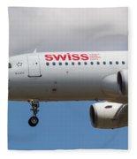 Swiss Airlines Airbus A320 Fleece Blanket
