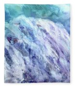 Swiss Alps - My Interpretation Fleece Blanket