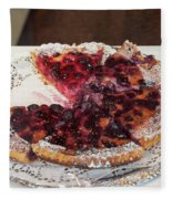 Swiss Custard Tart With Sour Cherries Fleece Blanket