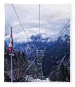 Swiss Funicular Fleece Blanket