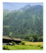 Swiss Mountain Home Fleece Blanket