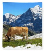 Swiss Scene Fleece Blanket