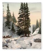 Switzerland: Davos, C1895 Fleece Blanket