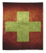 Switzerland Distressed Flag Dehner Fleece Blanket
