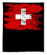 Switzerland Gift Country Flag Patriotic Travel Shirt Europe Light Fleece Blanket
