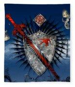 Sword And Shield Fleece Blanket