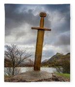 Sword Of Llanberis Snowdonia Fleece Blanket