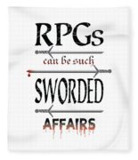 Sworded Affairs Light Fleece Blanket
