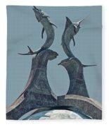 Swordfish Sculpture Fleece Blanket