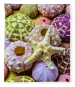Syarfish And Sea Urchins Fleece Blanket