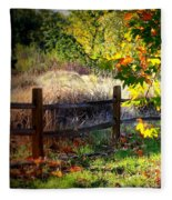 Sycamore Grove Fence 1 Fleece Blanket
