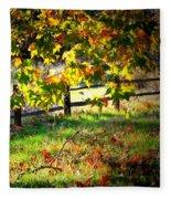 Sycamore Grove Fence 2 Fleece Blanket