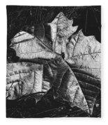 Sycamore Leaf Digital Fleece Blanket