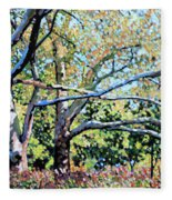 Sycamore Trees At The Zoo Fleece Blanket