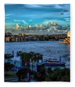 Sydney Harbor And Opera House Fleece Blanket