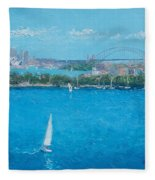 Sydney Harbour And The Opera House Vacation Fleece Blanket
