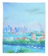 Sydney Harbour Impression Fleece Blanket