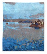 Sydney Opera House From A Distance Fleece Blanket