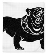 Symbol: Bulldog Fleece Blanket
