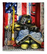 Symbols Of Heroism Fleece Blanket