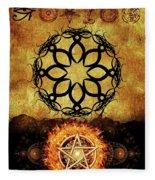 Symbols Of The Occult Fleece Blanket