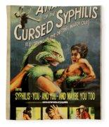 Syphilis Poster Fleece Blanket
