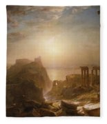 Syria By The Sea Fleece Blanket