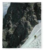 T-504102 1st Ascent On Mt. Shuksan Fleece Blanket
