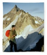 T-504412 Walt Buck Sellers At Bivouac Site Fleece Blanket