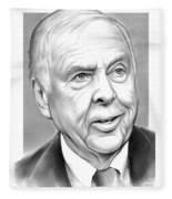 T Boone Pickens Fleece Blanket