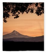 Mt. Hood At Sunset Fleece Blanket