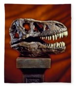 T Rex Skull Fleece Blanket