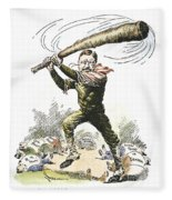 T. Roosevelt Cartoon, 1904 Fleece Blanket