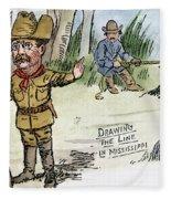 T. Roosevelt: Teddy Bear Fleece Blanket