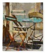 Table Bleue Au Soleil Fleece Blanket